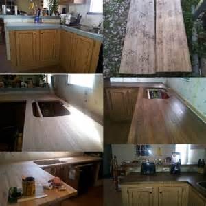 Diy rustic wood kitchen countertops diy kitchen redo pinterest
