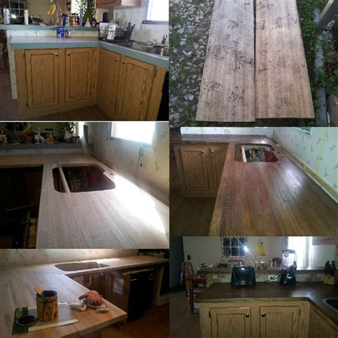 Diy Wood Kitchen Countertops Diy Rustic Wood Kitchen Countertops Diy Kitchen Redo Pinterest