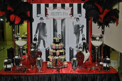 gangster themed decorations gangster 1960 s 21st birthday ideas photo 1 of 4
