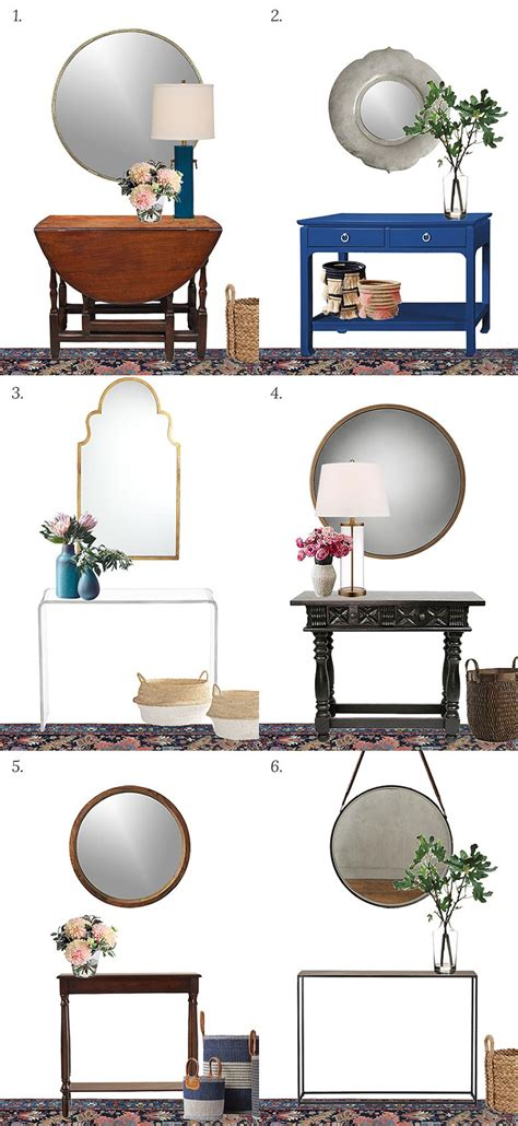 Foyer Console Table And Mirror Choosing A Console Table And Mirror For An Entryway It Lovely