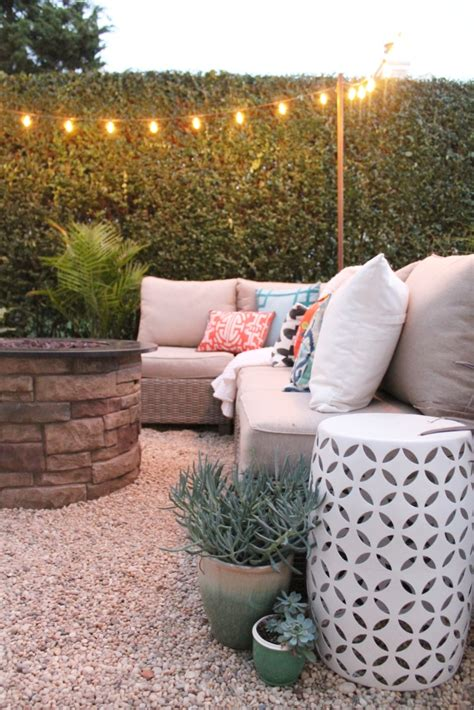 create a diy pea gravel patio the easy way city farmhouse