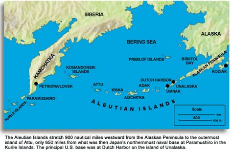 aleutian islands map thousand mile war