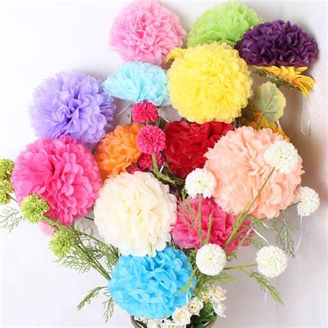 15 Cm5 Tissue Paper Pom Poms Flower Balls Bunga 500pcs 6inch 15cm tissue paper pom poms flower balls wedding centerpieces decoration birthday