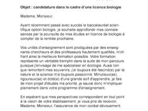 Exemple De Lettre De Motivation Université Licence Exemple Lettre Motivation Licence