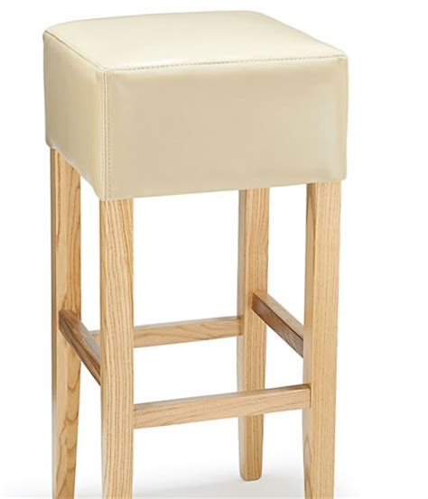 Wood Bar Stools No Back Rhone Real Leather Wood Oak Bar Stool No Back