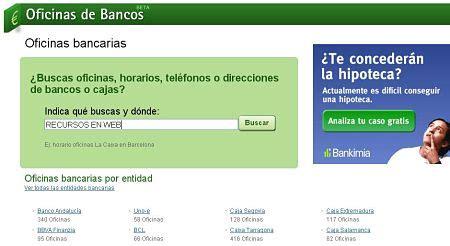 horario oficinas banco santander madrid oficinasdebancos oficinas tel 233 fonos y horarios de bancos