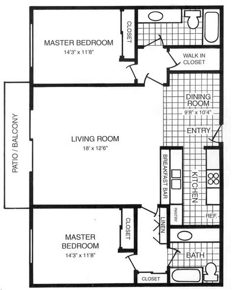 Master Suite Floor Plans For New House Master Suite Floor Ranch House Plans With Two Master Suites