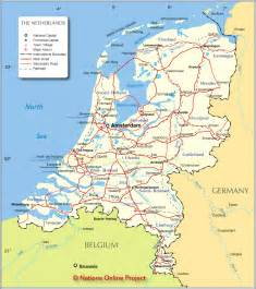 political map of netherlands nations project