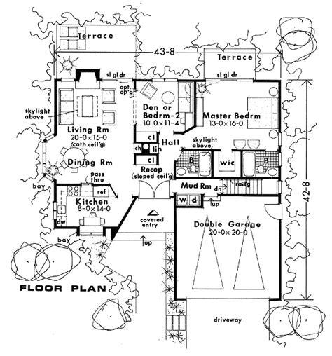 Narrow Ranch House Plans by Plan W7109h Corner Lot Ranch Contemporary Narrow Lot