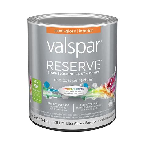 shop valspar reserve semi gloss interior paint and primer in one actual net contents 32