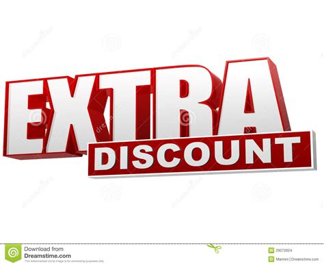 extra discount red white banner letters and block stock