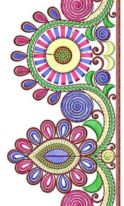 Dress Sayap Bordir Flowerkids royal clothing style designer lace border brocade design borders