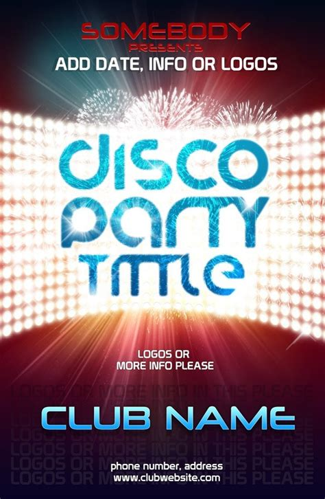 Psd Poster Template For Club Event Free Psd Files Photoshop Poster Templates