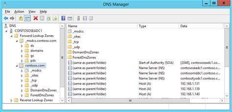Dns Lookup Zones Windows Server 2012 Dns Forward Lookup Zone Missing Sub Zones Server Fault