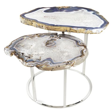 quinn two tier agate coffee table dering