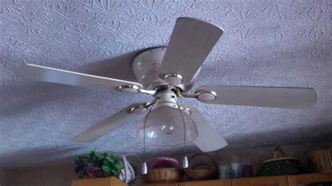 vintage hunter ceiling fans 52 quot hunter tea rose hugger vintage ceiling fan youtube