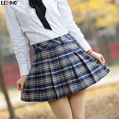 Preppy Skirt Sk fashion plaid school skirt bust skirt pleated skirt preppy style sweet a