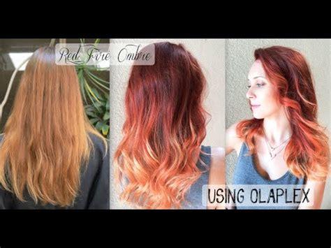 Red Fire Balayage Ombre Hair using OLAPLEX   SCHWARZKOPF   YouTube