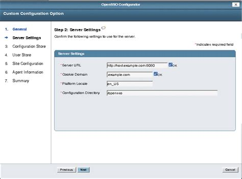 host url to configure opensso enterprise with a custom