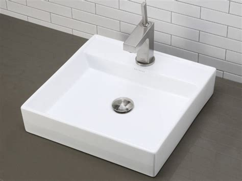 white square vessel sink white square ceramic vessel sink with single faucet deck