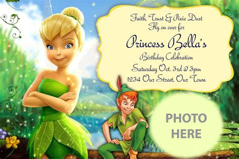 pan invitation template pan search ideas tinkerbell