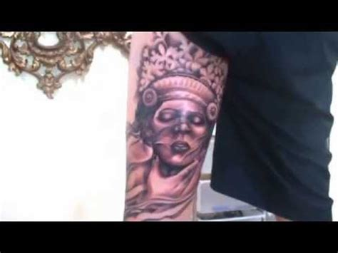 bali tattoo competition shotonk tattoos balinese dancer black grey youtube
