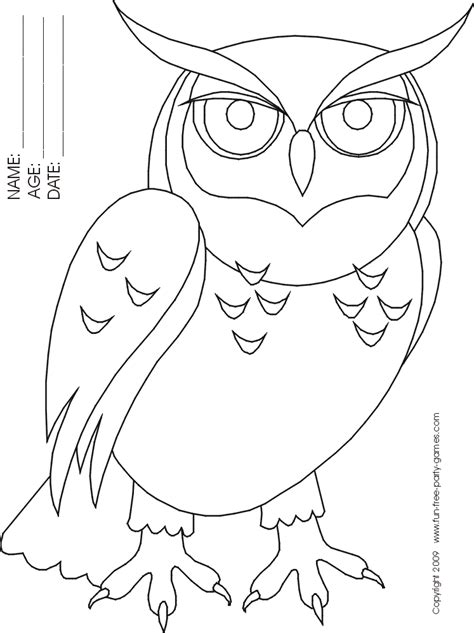 owls pictures cartoons coloring home