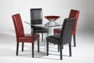 All clear glass top leather modern dining set denver colorado chxbase