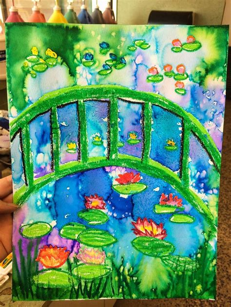 618 best 2nd grade art projects images on pinterest art 41 best images about claude monet art project for kids on