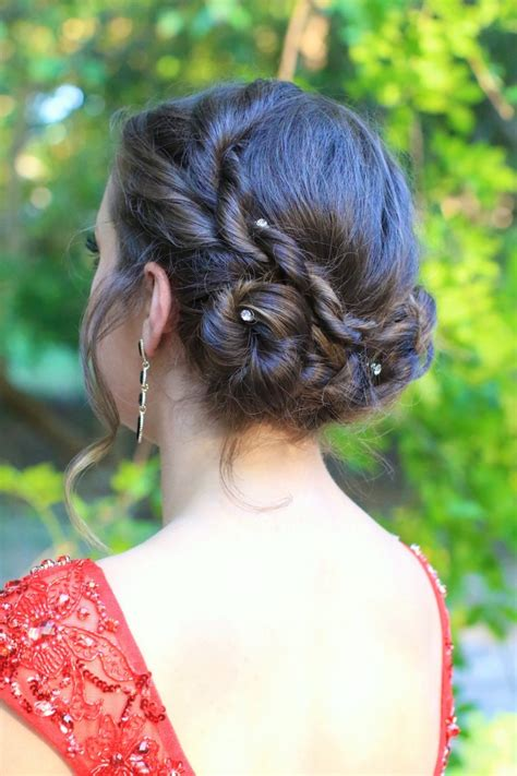 rope twist updo homecoming hairstyles cute girls rope twist updo homecoming hairstyles cute girls