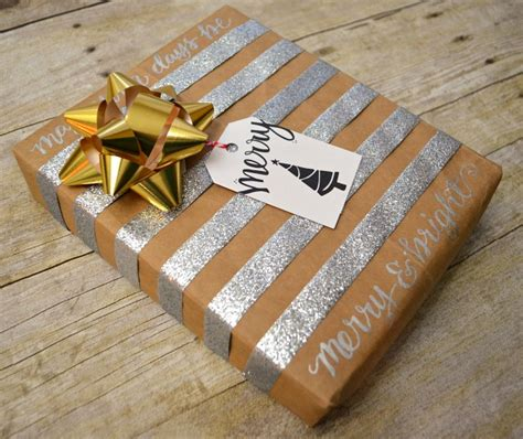 simple chic holiday gift wrapping one artsy mama
