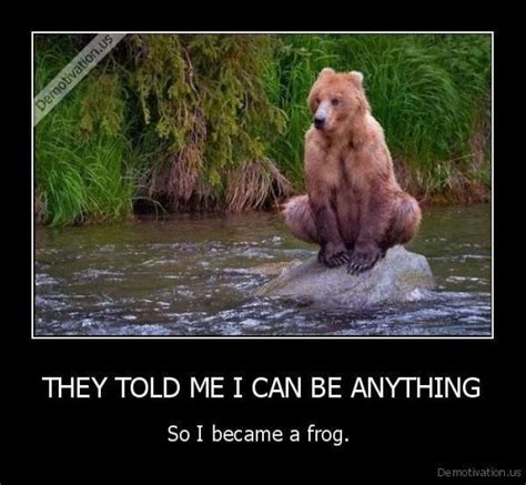 Bears Meme - bear meme they told me i can be anything http www