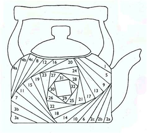 Free Paper Folding Patterns - august pattern teapot pieces of my