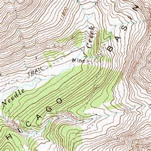 Topographic Map Chicago by Chicago Basin Co