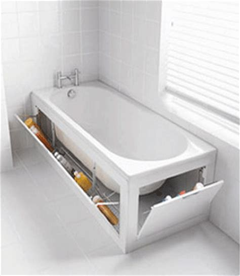 bathtub solutions creative bathroom storage concrete life