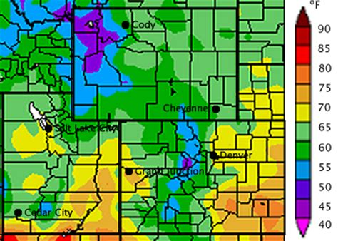 colorado average temperature map wwa july 2011 iwcs