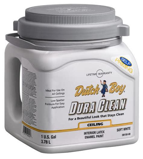 boy 174 dura clean 174 soft white flat interior ceiling paint 1 gal at menards 174