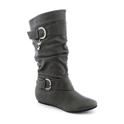 shiekh candies 15d s grey mid calf boot shiekh shoes