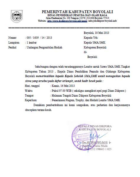 info sma smk kabupaten boyolali undangan pengambilan hadiah lomba lomba