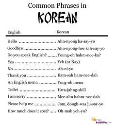 common phrases in korean seeing