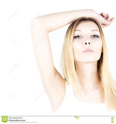 White Smooth Axillary 1 armpit on white stock photo cartoondealer 54607362