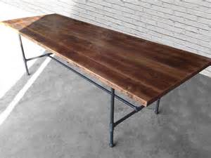 Wood Conference Table Reclaimed Wood Thick 2 5 Top Conference Table With Steel Pipe