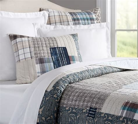 malibu patchwork quilt shams pottery barn