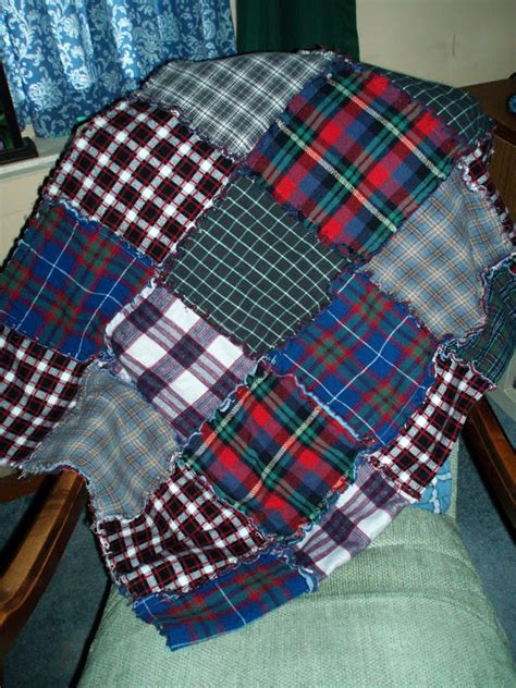 Flannel Quilts With Frayed Edges by Beth S Quilts