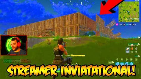 fortnite invitational fortnite streamers only invitational 50 vs 50 gameplay