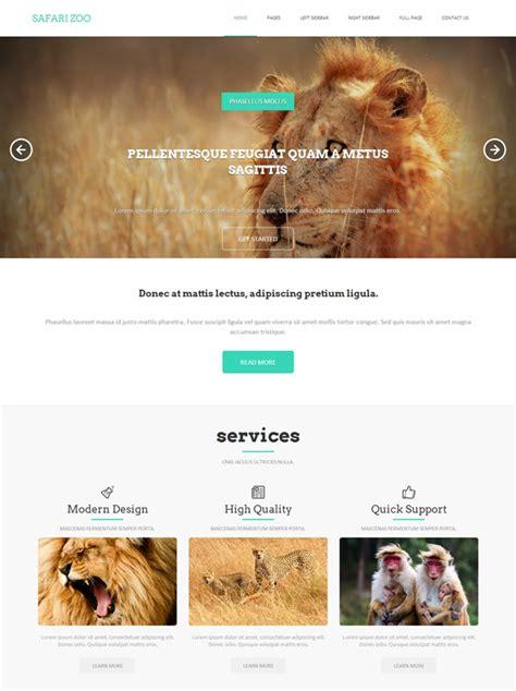 Animal Source Html Template Safari Zoo Website Templates Dreamtemplate Animal Website Templates