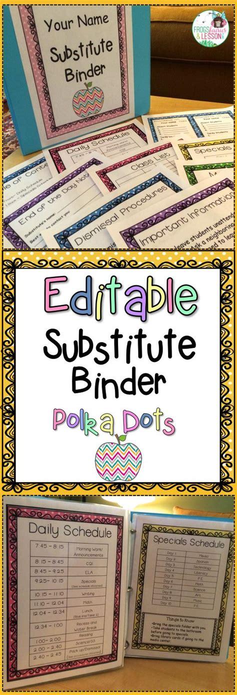 206 Best Images About Lesson Plan Templates Teacher Binders On Pinterest Substitute Folder Template