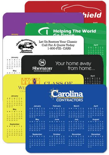 Personalised Calendar Discount Horizontal Personalized Calendar Mouse Pads Wholesale