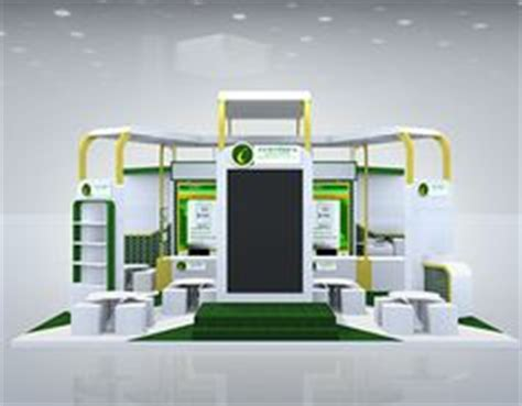 booth design bank exhibition stall 3d model 6 mtr x 4 mtr 3 side open