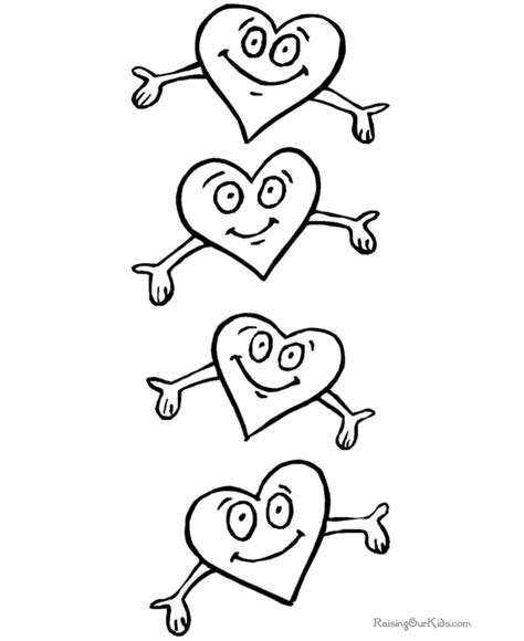 valentine coloring printables 020